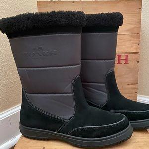 "Authentic COACH ""Sherman"" Snow Boots."